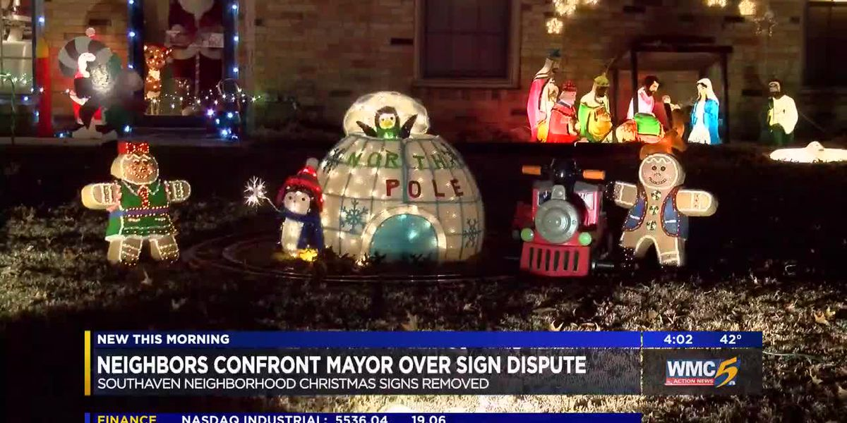 Southaven residents confront mayor about removing Christmas signs