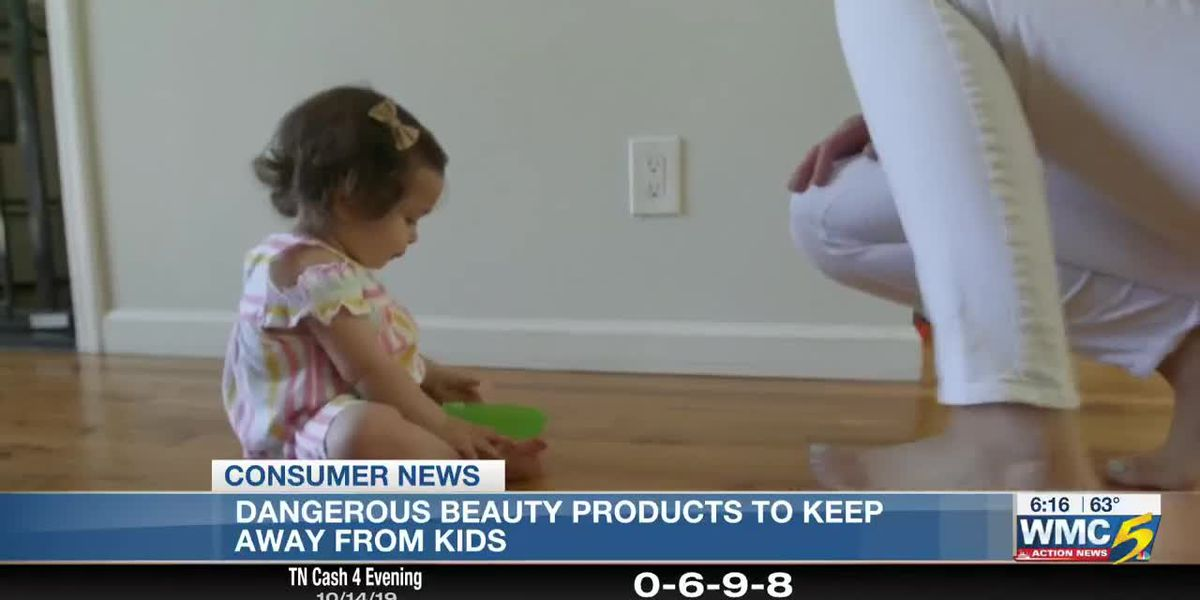 Beauty products represent hazards for children