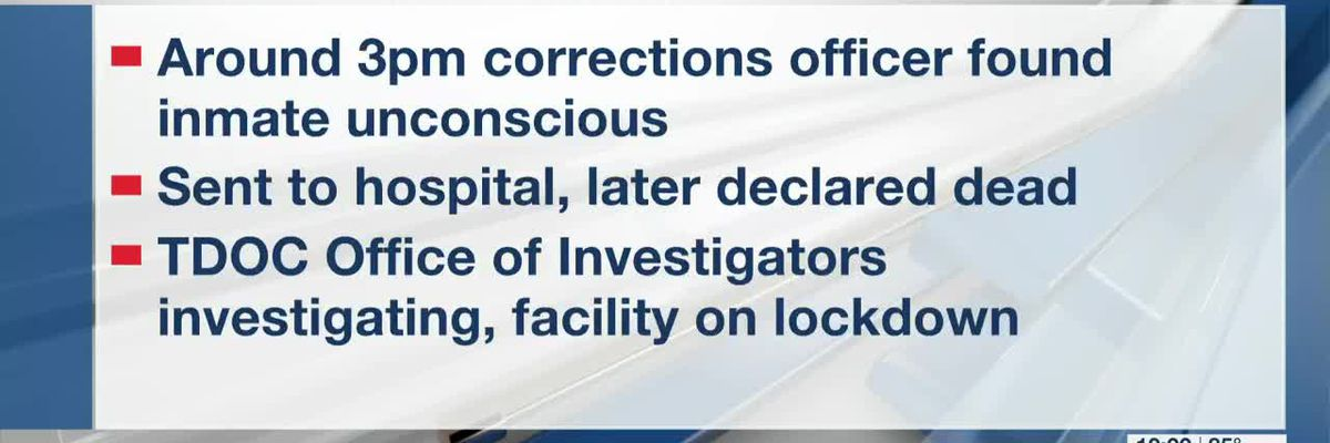 Inmate death reported at Hardeman County Correctional Facility