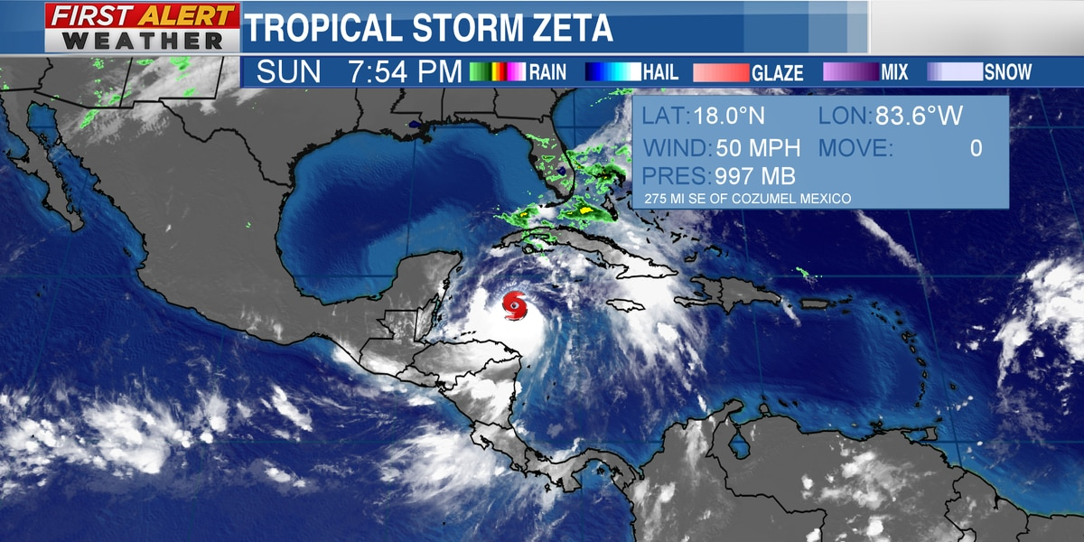 Tropical Storm Zeta could have impacts on the Mid-South