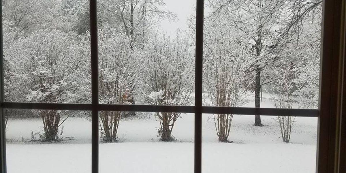 Early-season snow hits the deep south