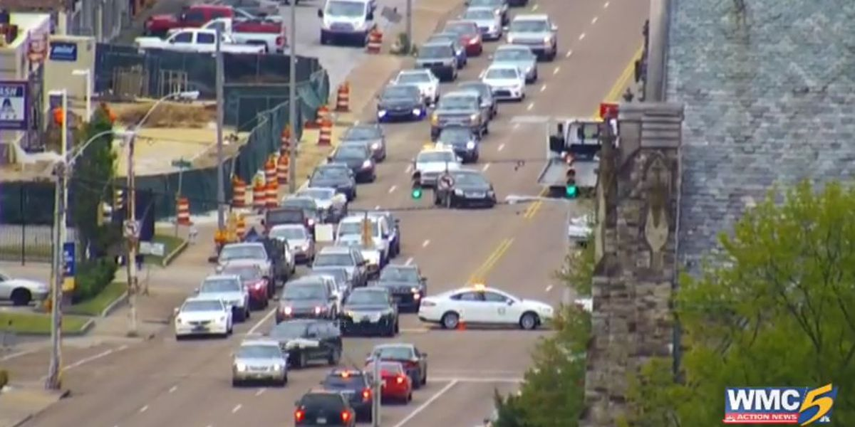 Traffic moving again after jam on Union Ave. at Belvedere Blvd.