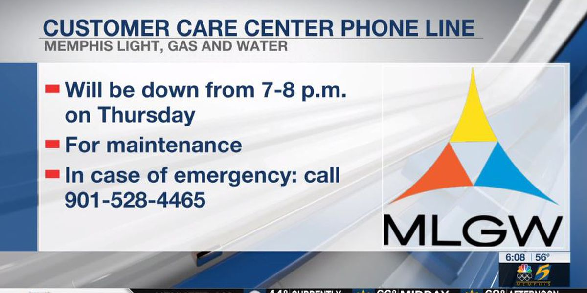 MLGW Customer Care Center to shut down for maintenance