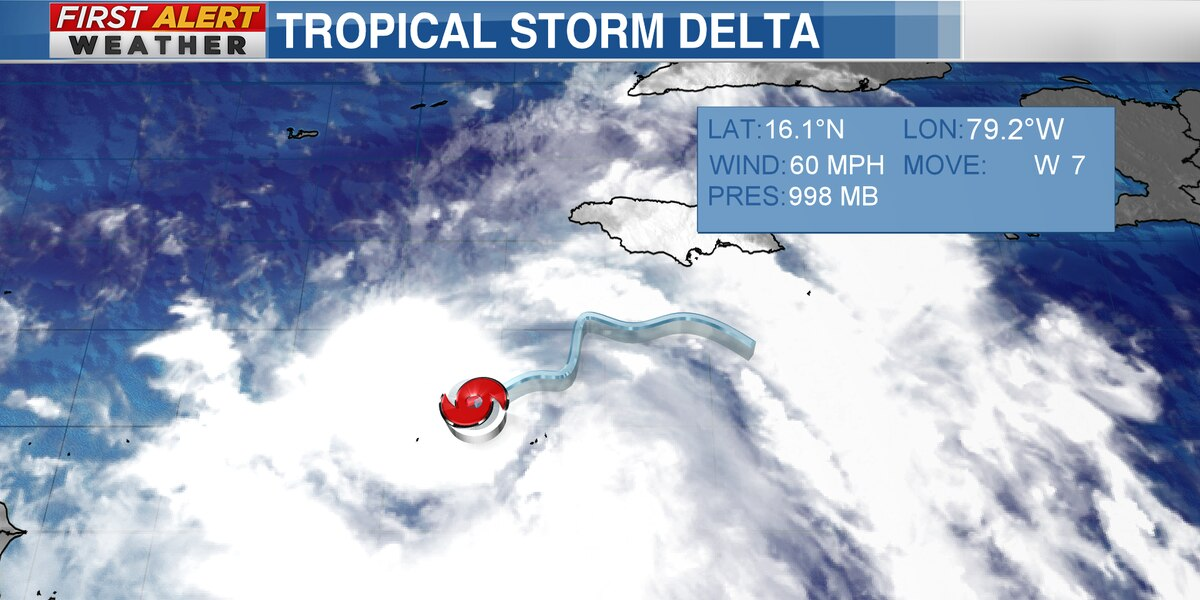 Tropical Storm Delta-we need to watch this one