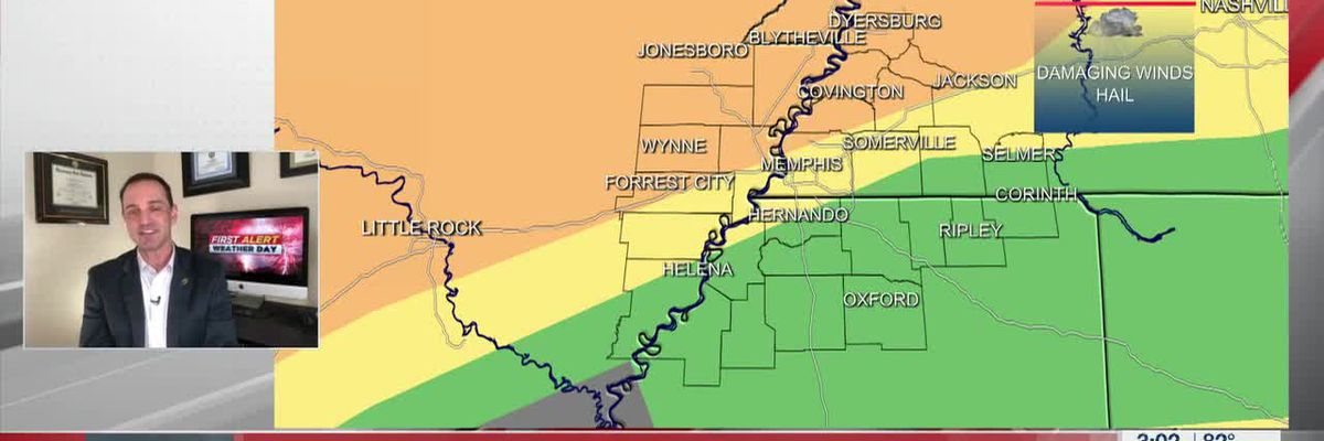 First Alert Weather Day: Severe storms possible tonight and tomorrow