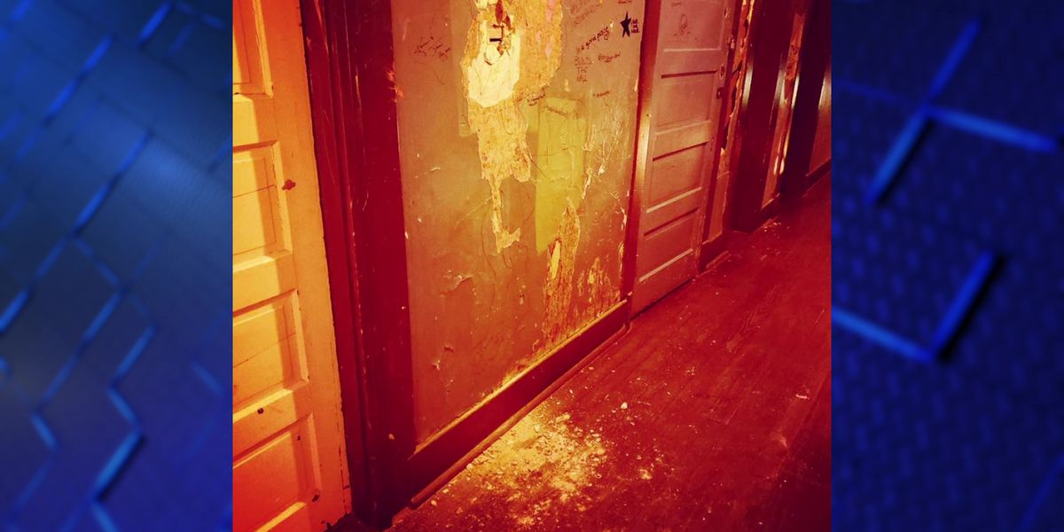 Vandal punches holes in wall of Earnstine & Hazel's