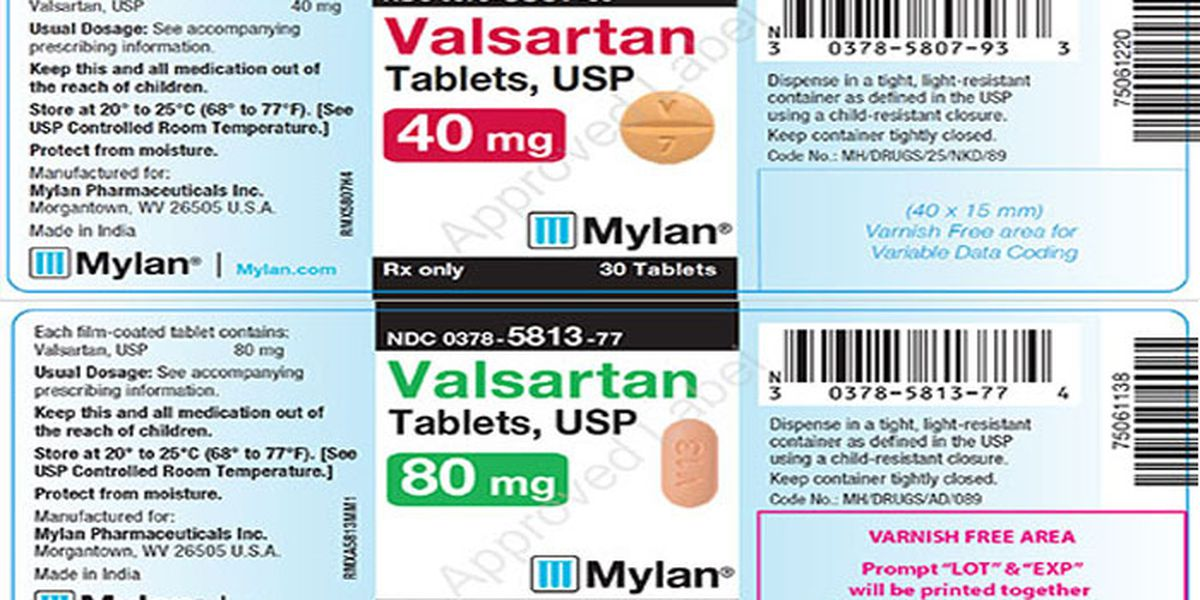 Valsartan recall expanded to include all of one company's