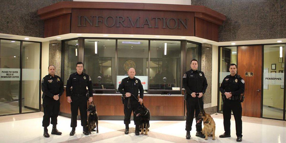 Bartlett K-9 officers, partners get police badges