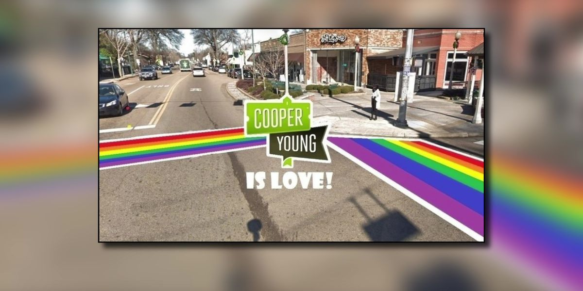 Memphis made home to Tennessee's first LGBTQ rainbow crosswalk