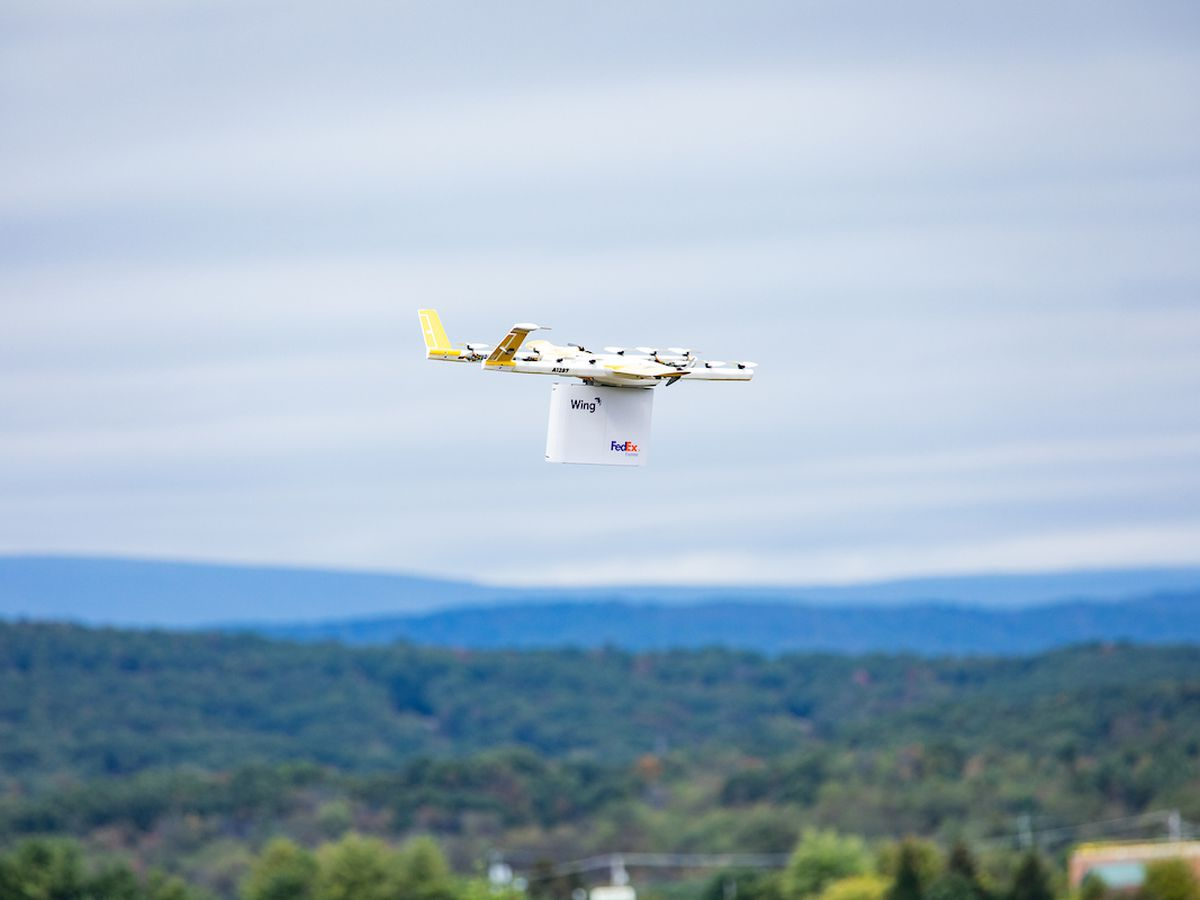 FedEx makes first home delivery with drone in Va.