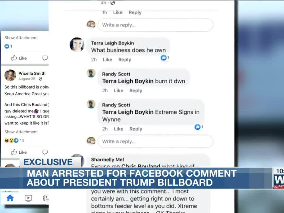 Arkansas man gets charged with making terroristic threats after political comment on Facebook