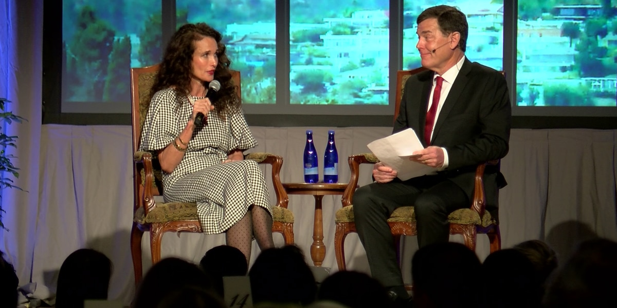 Actress Andie MacDowell shines at fundraiser