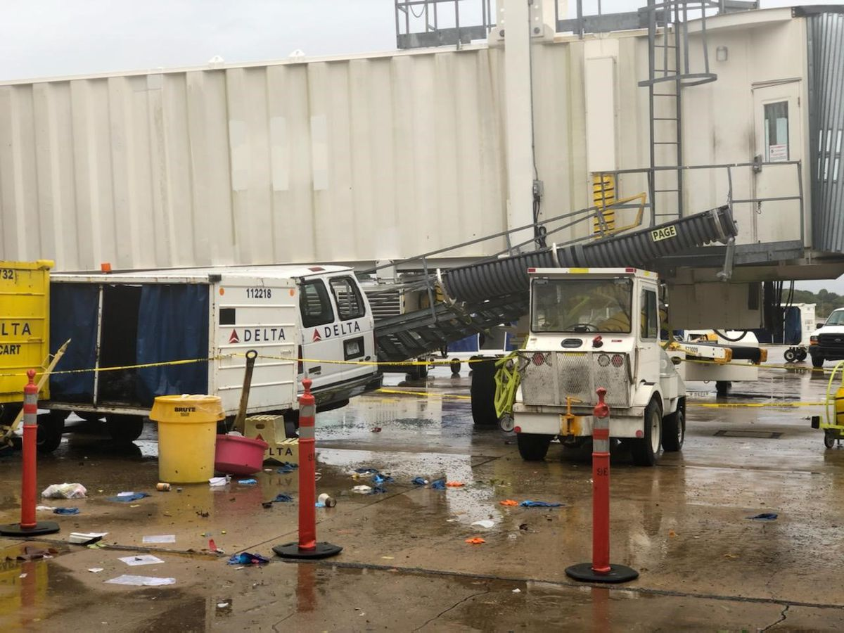 Memphis airport undergoes repairs following severe weather