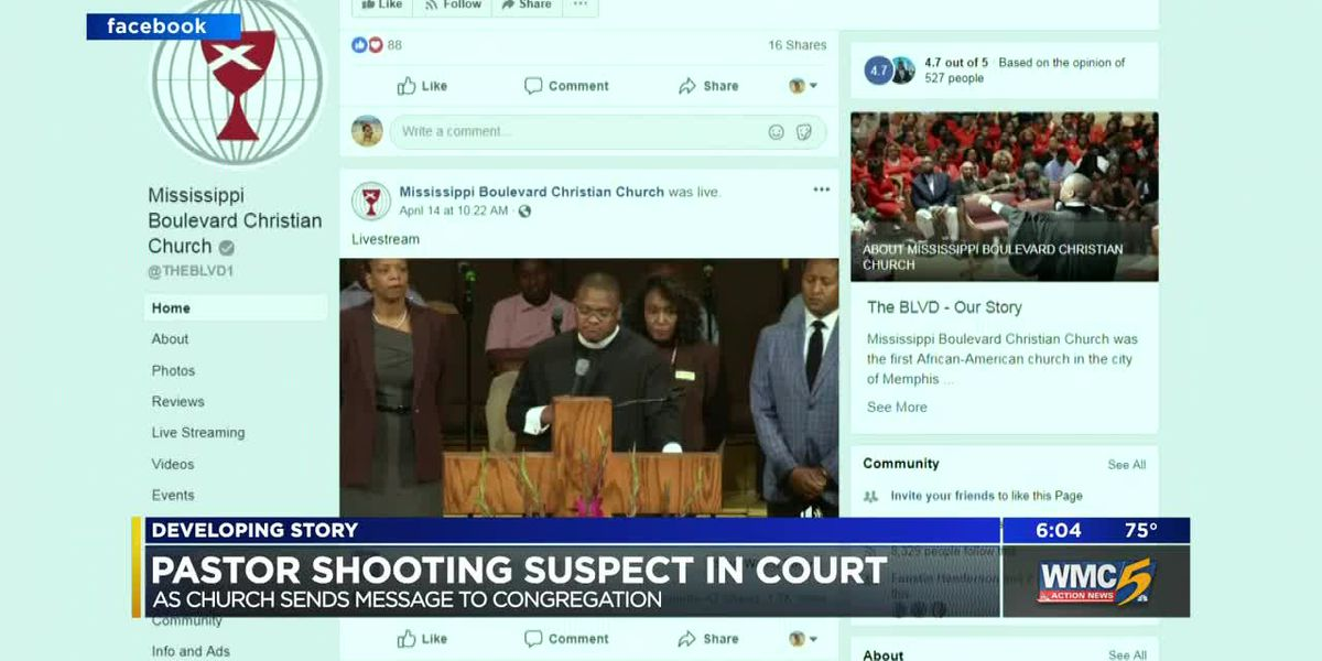 Church sends message to congregation as shooting suspect appears in court