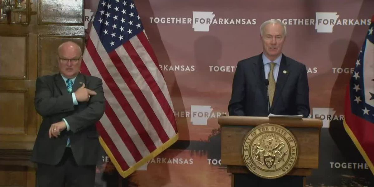 Arkansas governor discussing state's hospital capacity amid COVID-19 surge