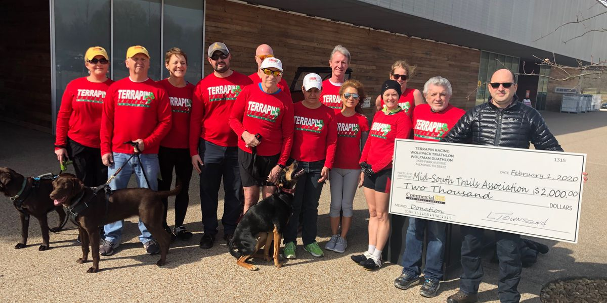 Triathletes donate $2K to re-mark Shelby Farms trails