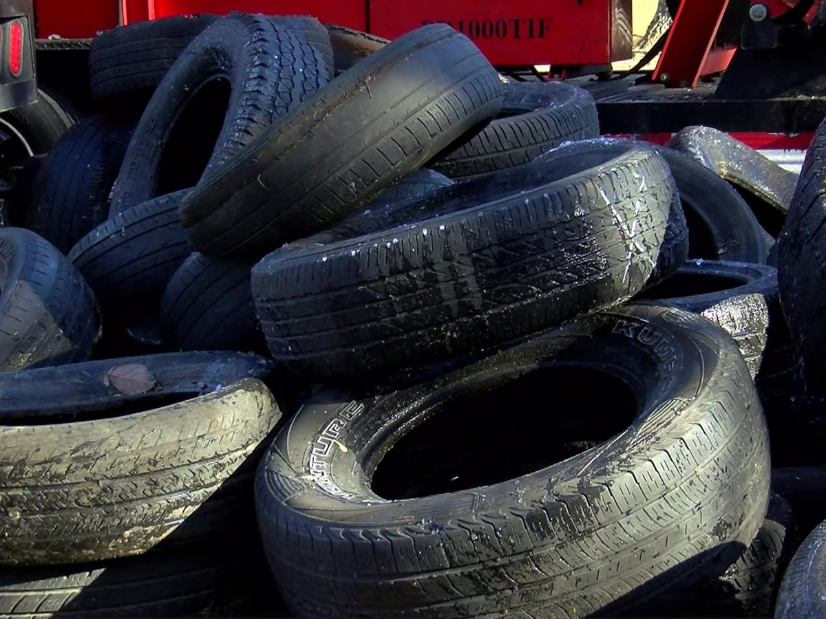Clean-up program clears discarded tires from pedestrian trail