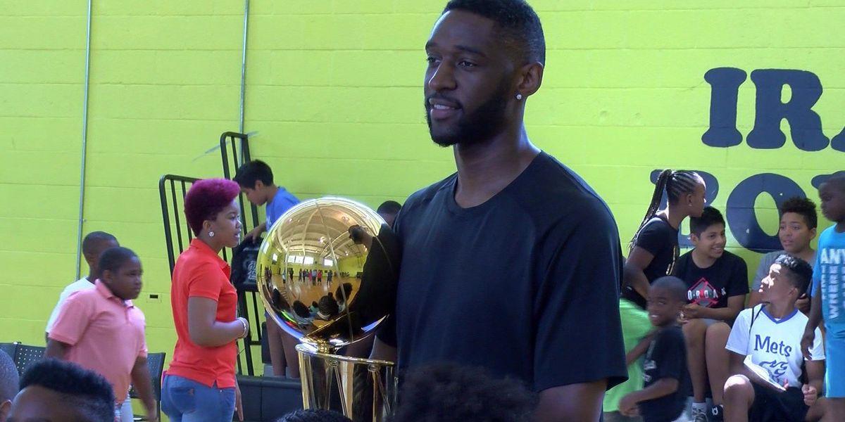 Ian Clark brings NBA Championship trophy to Memphis