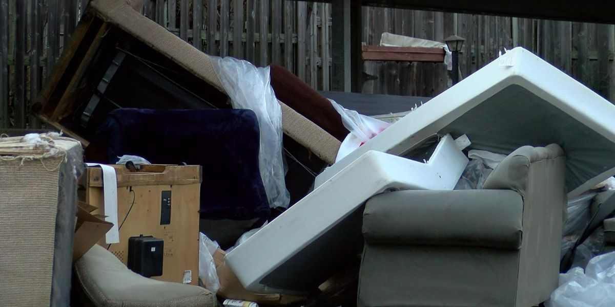 Residents say they're tired of illegal dumping in their neighborhood