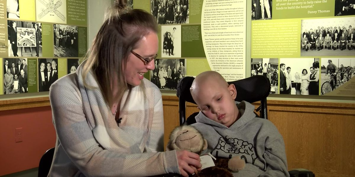 9-year-old boy beating brain cancer at St. Jude Children's Research Hospital