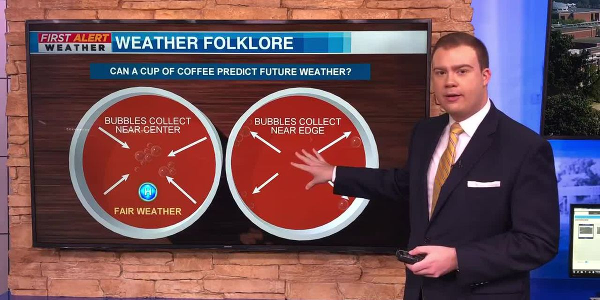 Can a cup of coffee predict the weather?