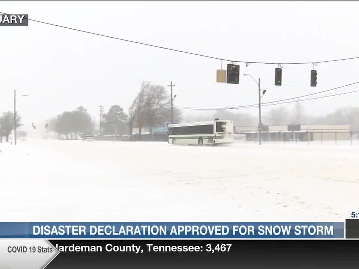 White House declares February winter storm a disaster in Shelby County