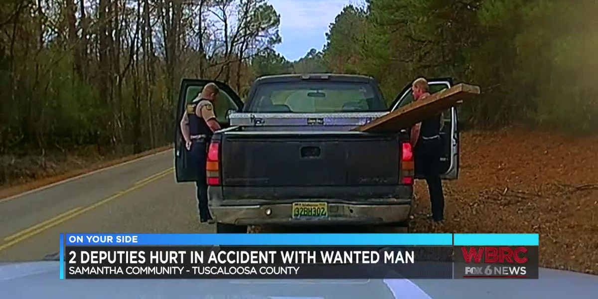 2 deputies hurt in accident with wanted man