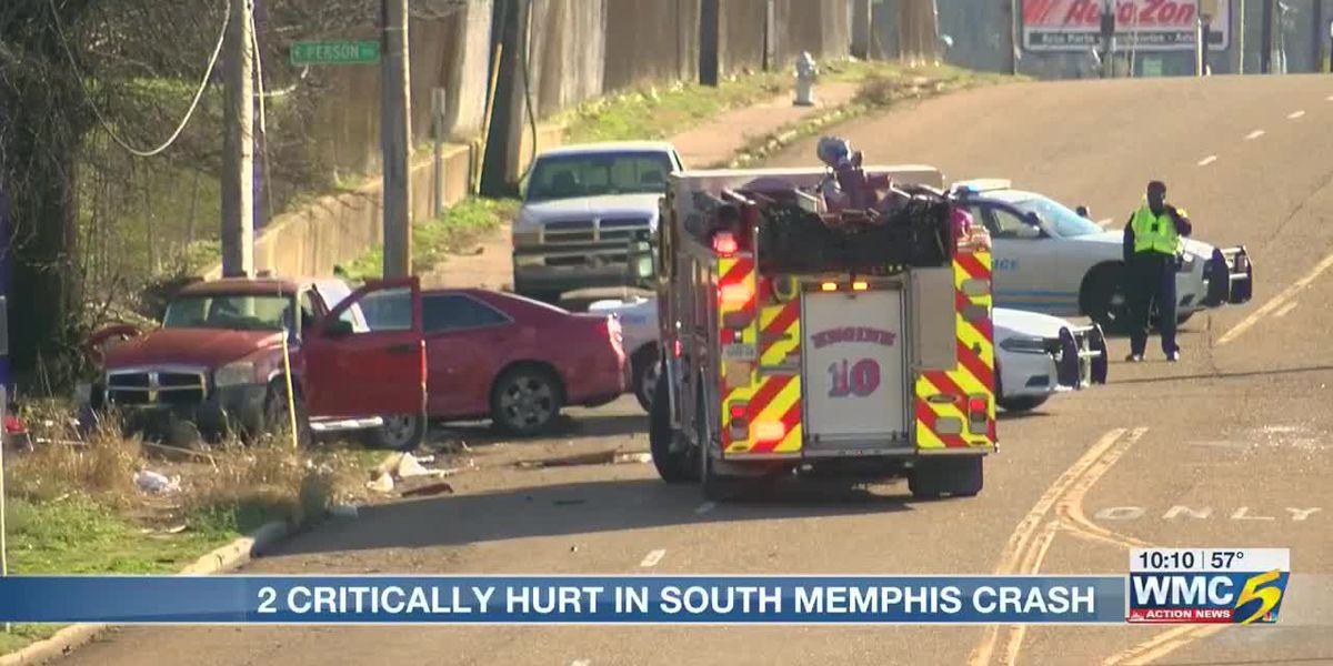 1 dead, 3 injured in 2-vehicle crash in South Memphis