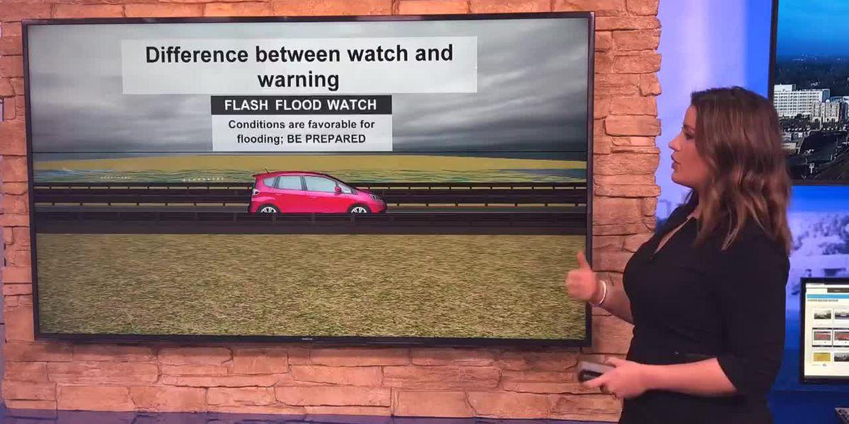 Breakdown: Flash flood watch vs warning