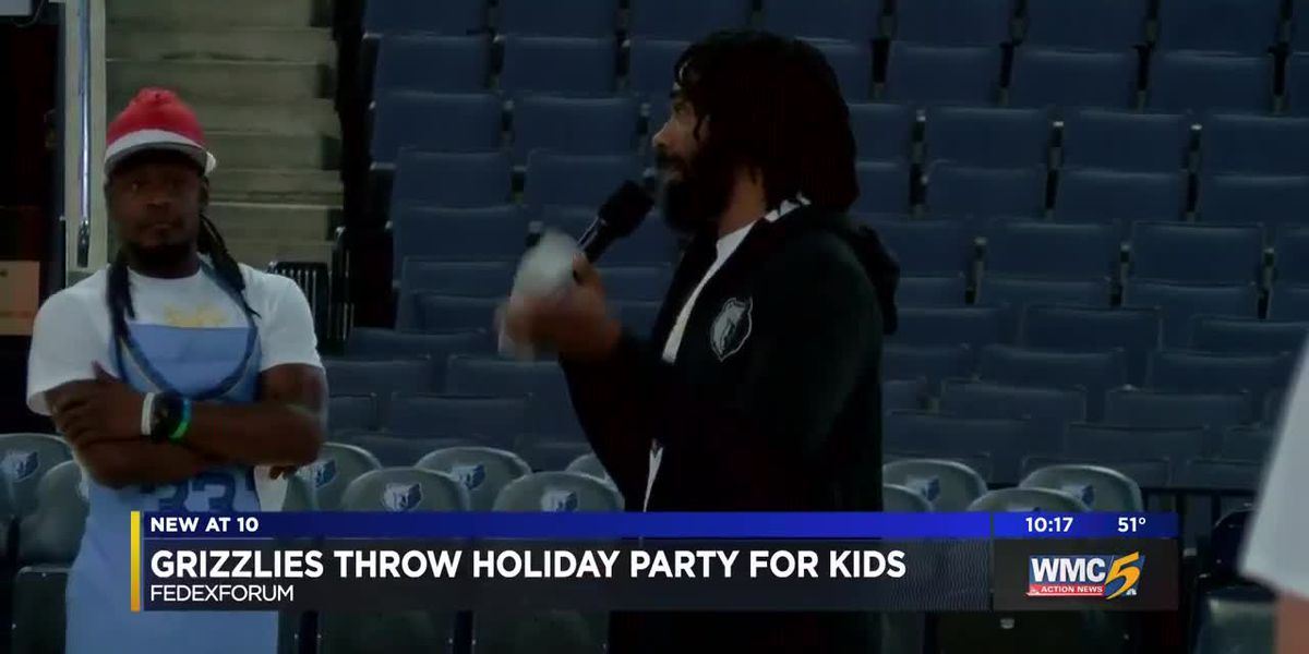 Memphis Grizzlies throw holiday party for kids