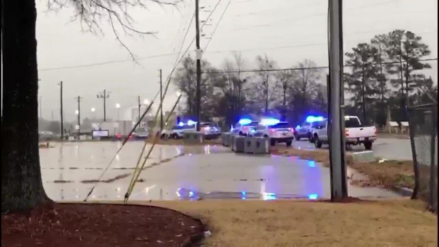 1 shot dead at plant near Atlanta; suspect caught in Alabama