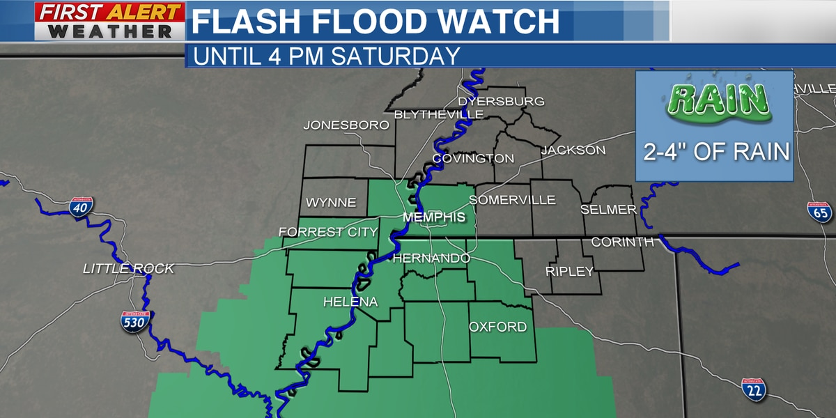 FIRST ALERT: Flash Flood Watch for parts of the Mid-South