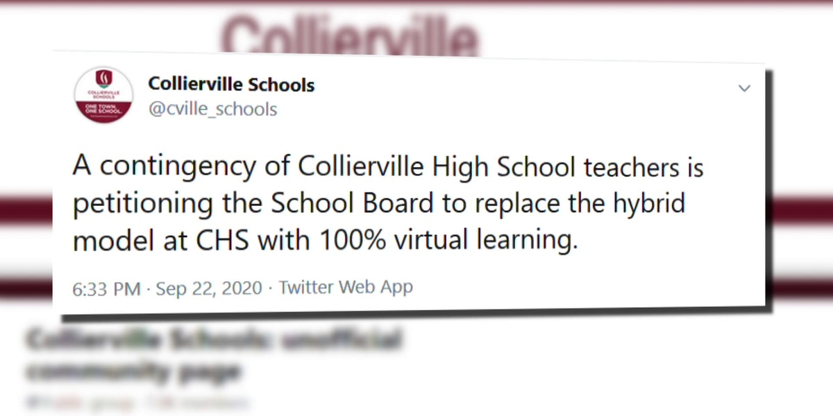 Collierville High School teachers push for changes to COVID-19 instructional methods