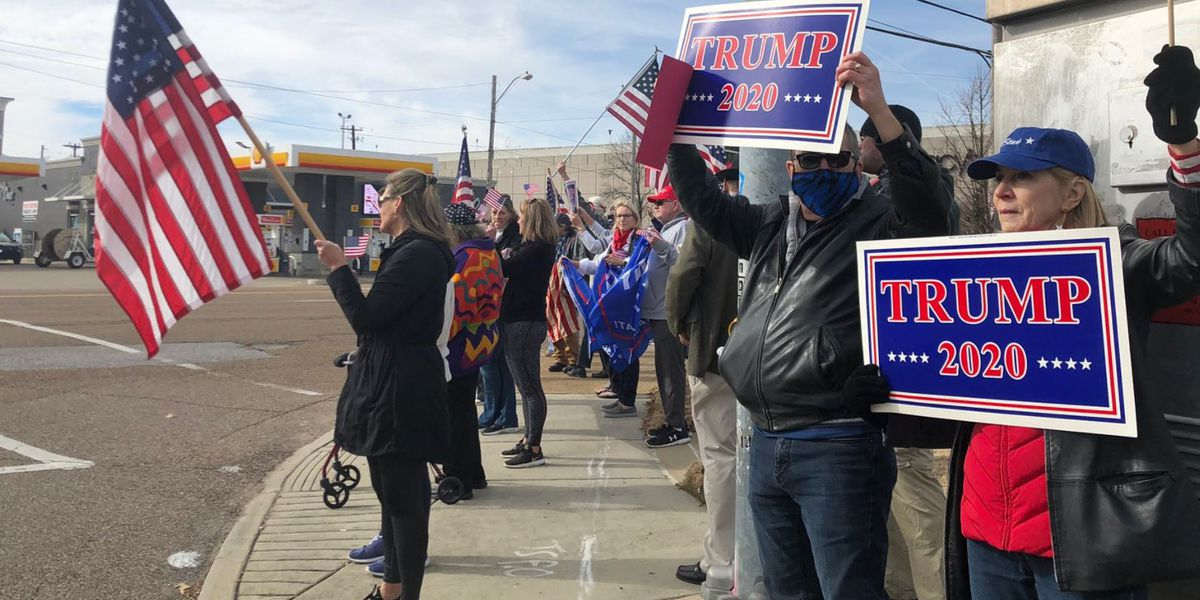 Memphis Trump supporters hold 'Stop the Steal' rally as Congress meets to certify Biden's victory