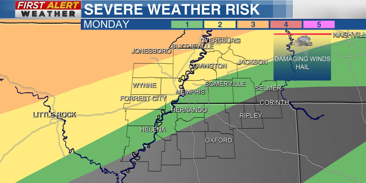 First Alert to severe storms Monday night and Tuesday