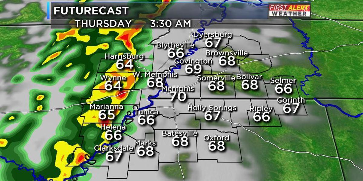 Mid-South faces enhanced to moderate risk for severe storms