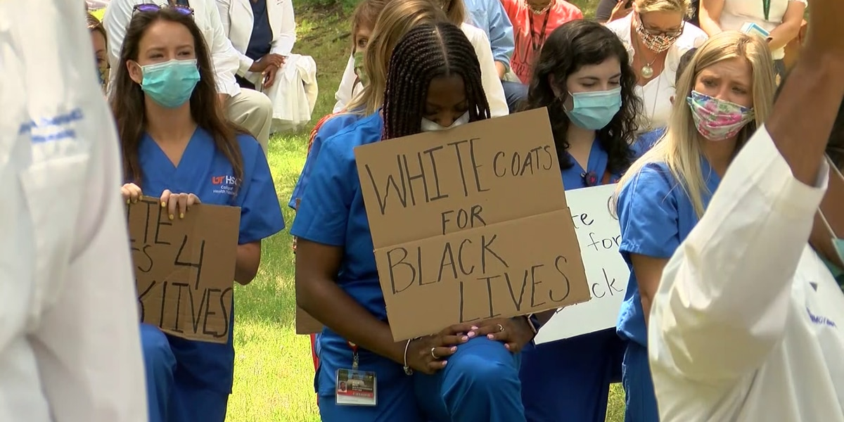 'White Coats for Black Lives': UTHSC students, staff gather in honor of George Floyd