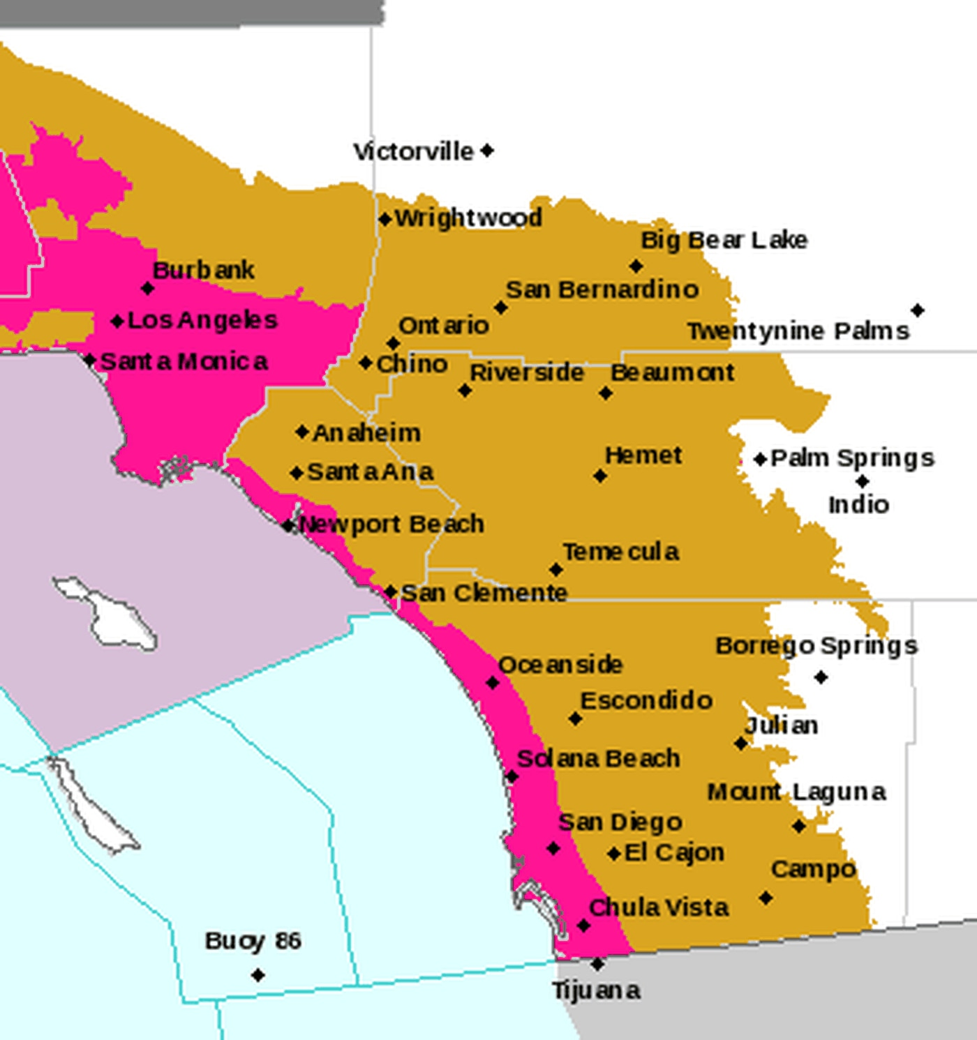 Santa Ana Fire Map.Why The Santa Ana Winds Fuel Wildfires