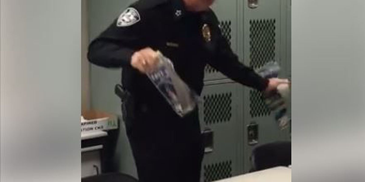 VIDEO: Police chief shows off on pre-K tour, rips phone book in half