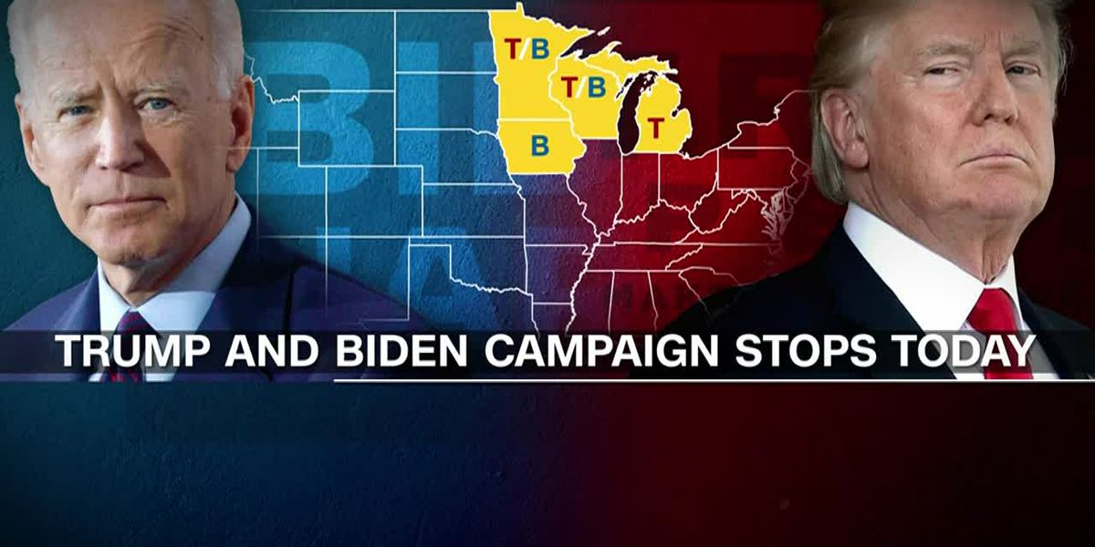 Biden, Trump hit crucial swing states in final sprint