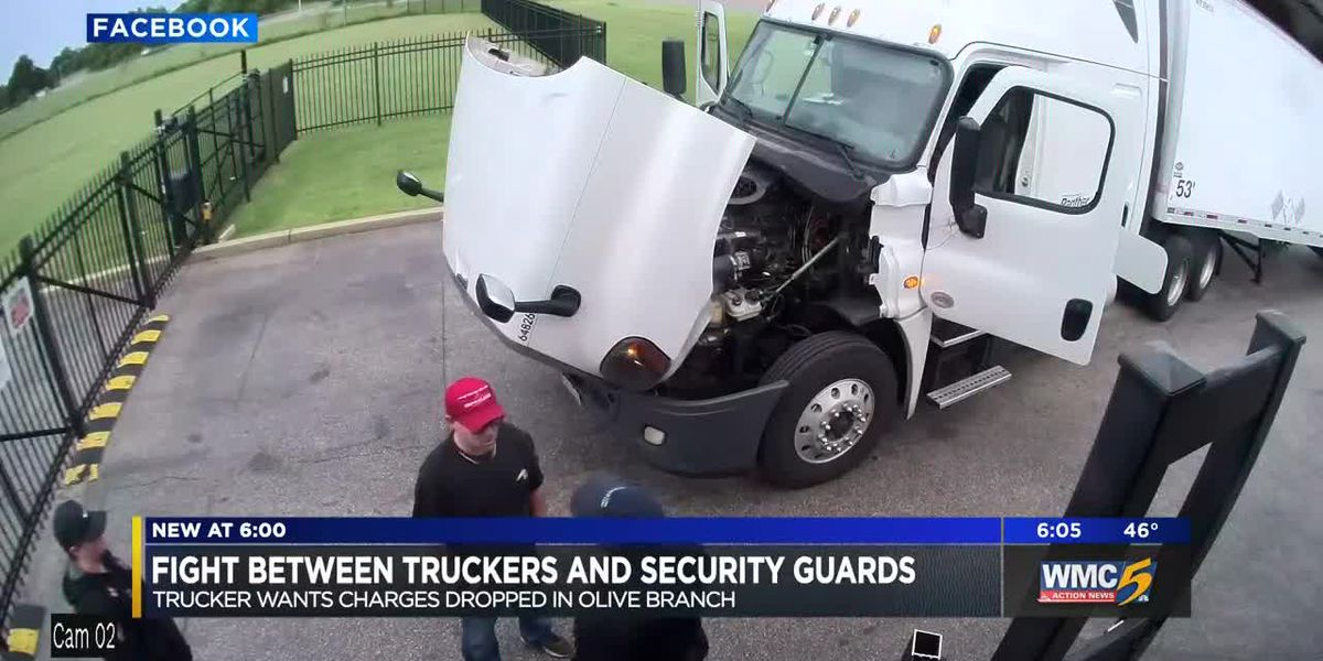 'This is unlawful': Trucker says guards attacked him and his wife