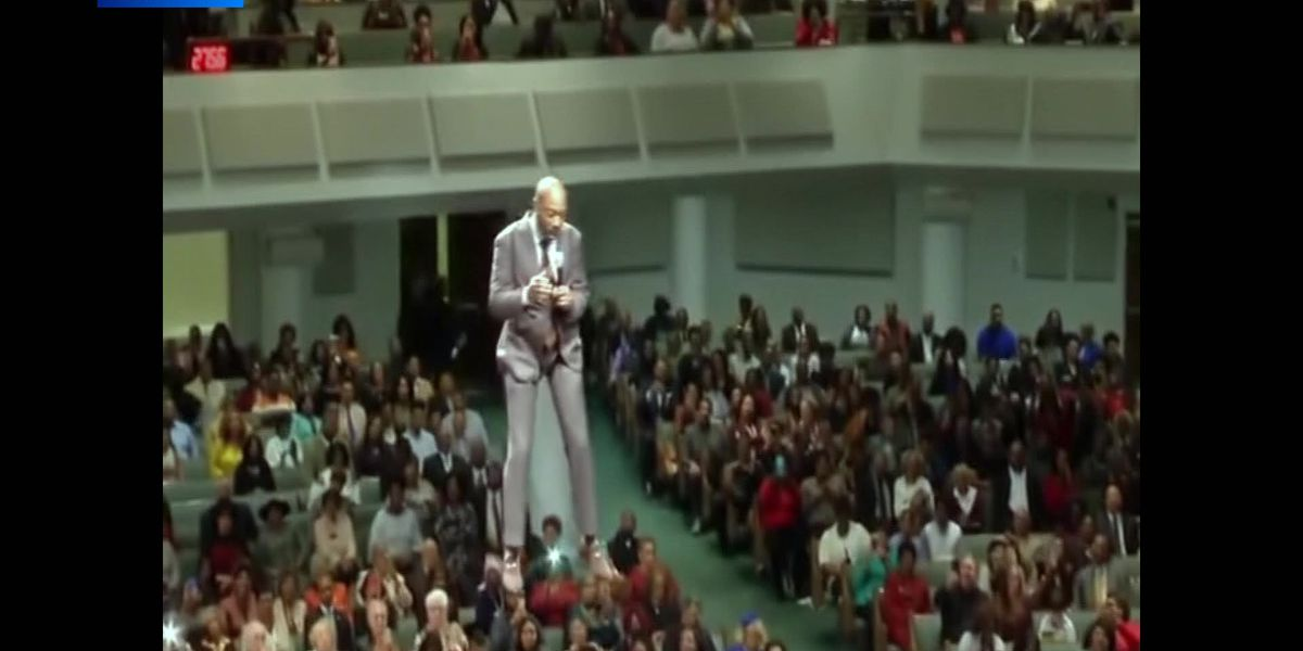 'Flying Preacher' takes sermon to new heights with zip line