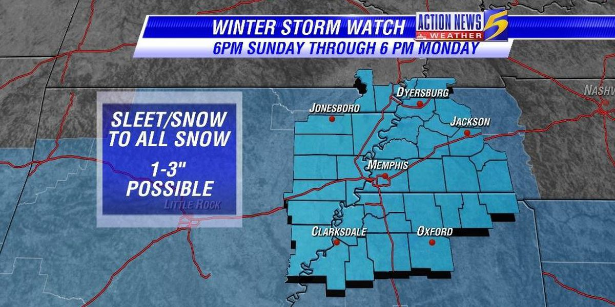 Winter Storm Watch issued for the Mid-South