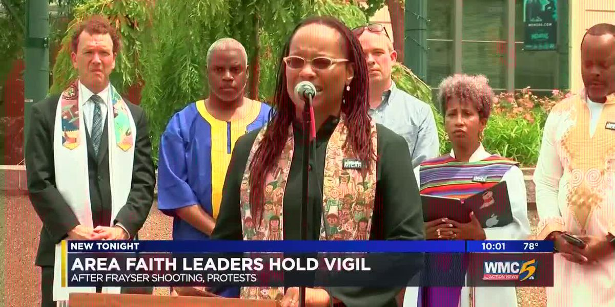 Area faith leaders hold vigil