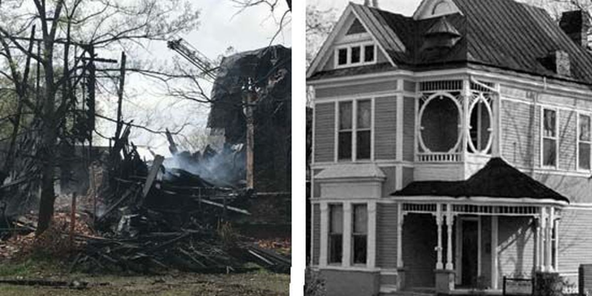 Historic Memphis home catches fire