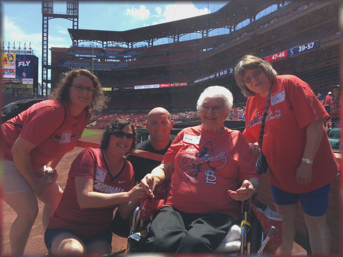102-year-old Cape Girardeau woman celebrates her birthday with the St. Louis Cardinals