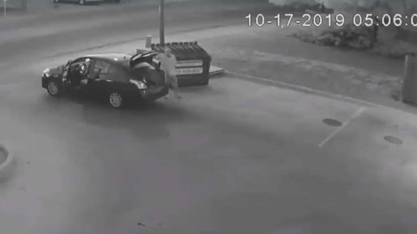 GRAPHIC: Video shows man throw woman's body in dumpster, police need help identifying victim and suspect