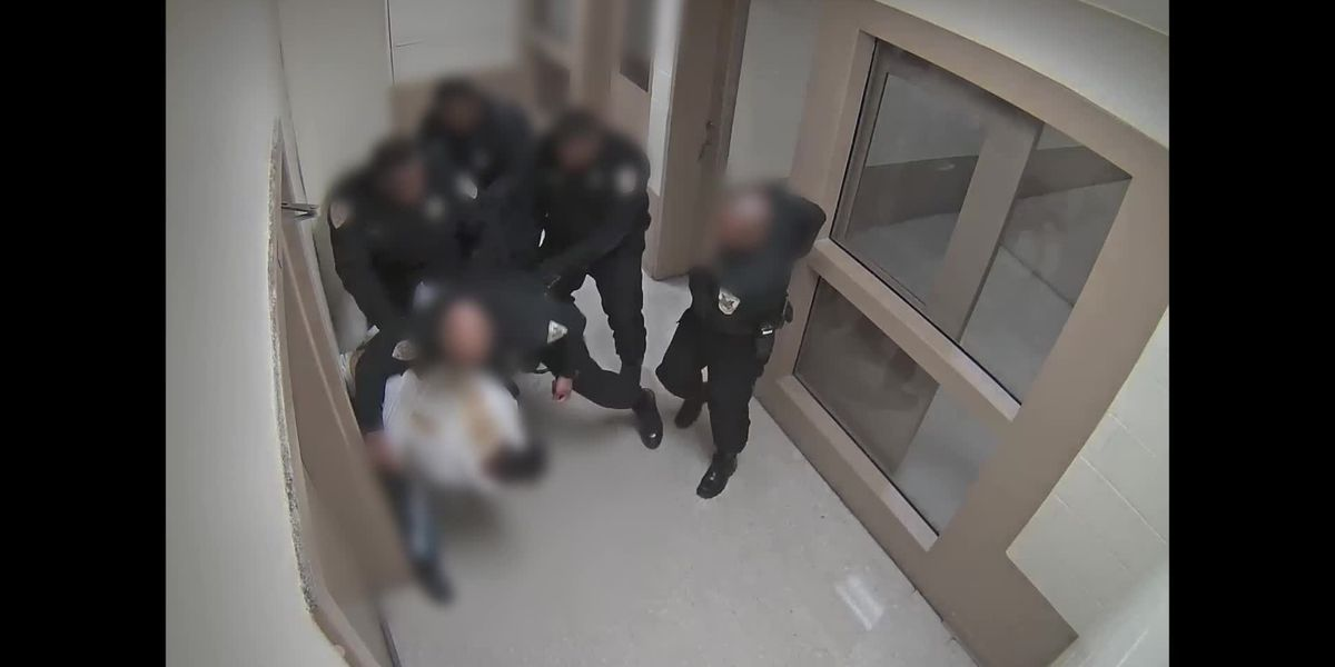 Surveillance video shows altercation between inmate, deputies at Shelby County Jail