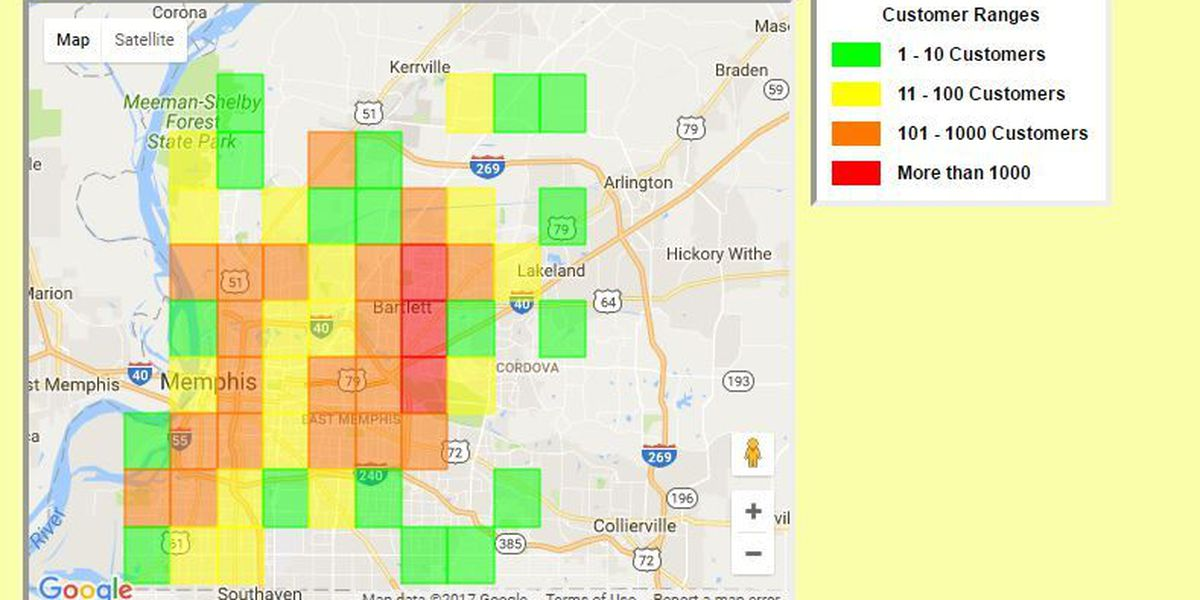 Thousands without power after storms hit Mid-South