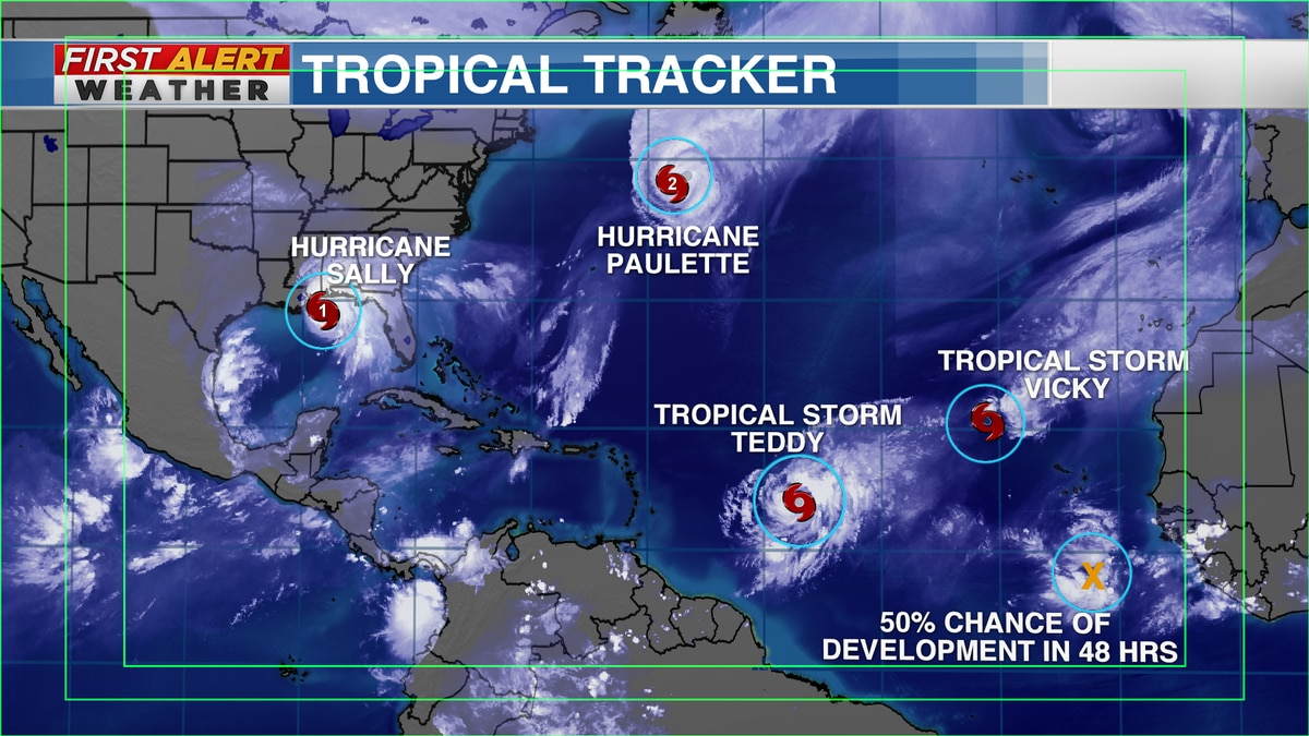 Hurricane Sally & 3 other tropical systems